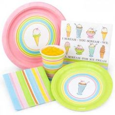 Ice Cream Party Supplies. Who doesn't like ice cream?