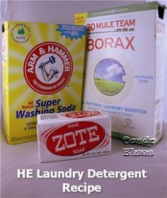How to Make Powdered High Efficiency Laundry Detergent from Condo Blues
