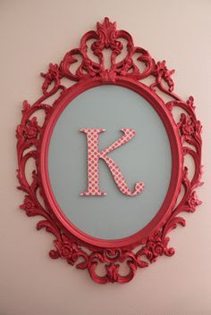 Creatively Purposed: Spray Painted Initial Frame