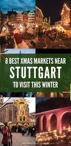The Best Christmas Markets Near Stuttgart, Germany - Trend Christmas Decorating Holiday 2019 Visit Austria, Visit Germany, Austria Travel, Germany Travel, Best Christmas Markets, Christmas Travel, Christmas Fun, Travel Around Europe, Europe Travel Guide