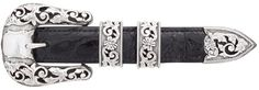 "Sunset Trails Presidio Silver Engraved 1"""" Buckle Set"