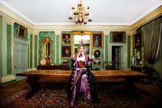 Steampunk Stephanie Ashton. (Fashion Photography: Tiffany Lin) #photographer  #fashionphotographer #portraitphotogrpaher #portrait #maunselhouse #hotelroom #red #luxury