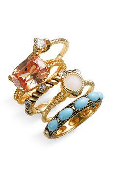 Ariella Collection Mixed Stackable Rings (Set of 5) | Nordstrom
