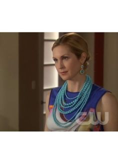 Gossip Girl, Season Finale. May 2012 Shop Design Spark layered turquoise necklace #shopdesignspark #jewelry