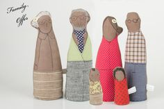family portrait   Grandmother father son and by TIMOHANDMADE