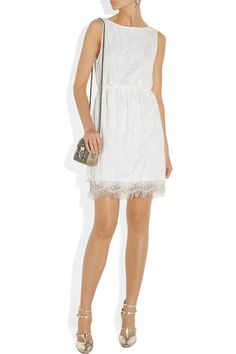 White lace dress - silver accessories