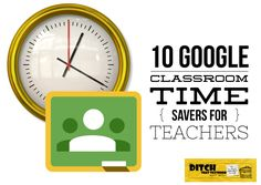 Google Classroom can already make us more efficient, but these tips can save you even more time and effort. (Images via Pixabay.com and Google)