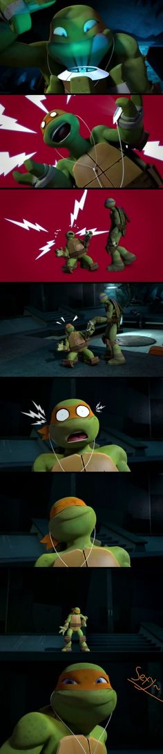 ...TMNT 2012: Mikey and Tpod... by DajaModernTheHedgie on deviantART