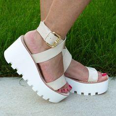 Poze Sandale crem ALMA 7 cm Platform, Heels, Fashion, Sandals, Heel, Moda, Fashion Styles, High Heel, Wedge