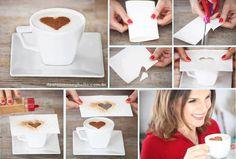Siz de evinizde misafirlerinize cafelerdeki gibi kahve sunumu yapmak istiyorsanız işte pratik yolu =)