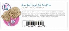 REPIN and LIKE this printable coupon! Baskin Robbins Coupons Free Cone
