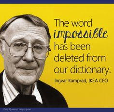 Career Lesson: The word impossible has been deleted from our dictionary #Quote…