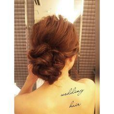 「#ヘアアレンジ#ヘアセット#ヘアスタイル#シニヨン#ウェディングドレス #ブライダルヘア#挙式#bridal#weddinghair #weddingdress #wedding #hair#hairdo #hairarrange#Instagram#プレ花嫁#花嫁#花嫁準備」