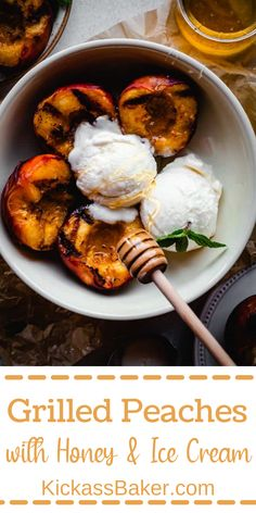 Slice up some juicy, ripe peaches, pair them with a high-quality, fruity olive oil, get them smokey from a few minutes on the grill and you've got yourself one fine Summer dessert! Go the extra mile by topping the peaches with a scoop of ice cream and drizzle of honey and we're in summertime heaven.