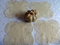 Cream/Beige Table Dollies Doily Home Decor  by EauPleineVintage, $15.00