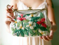 mountain meadows - vintage purse