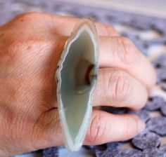 Agate slice ring by IndulgeJewellery on Etsy https://www.etsy.com/au/listing/288758919/agate-slice-ring