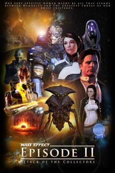 Mass Effect episode 2 Star Wars style poster Mass Effect Funny, Mass Effect Games, Mass Effect 1, Mass Effect Universe, Mass Effect Romance, Commander Shepard, Epic Games, Video Game Art, Dragon Age