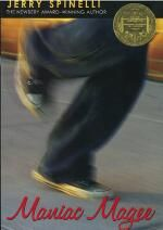 Maniac Magee by Jerry Spinelli. This book won the 1991 Newbery Medal. Newbery Award, Newbery Medal, Up Book, This Is A Book, Book Nerd, Maniac Magee, Good Books, Books To Read, Books For Tweens