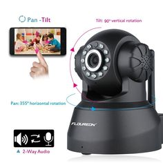 Floureon Network Infrared Night Vision Wireless IP Camera Only $36.99 in Christmas Sale.