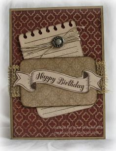 card by Gina Brandstetter using CTMH Huntington paper.... (change sentiment)