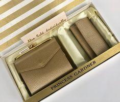 Vintage Wallet Set Gold Leather Princess Gardner | Etsy