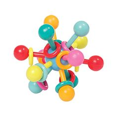 "Manhattan Toy Atom Rattle & Teether Grasping Activity Baby Toy, 4.5"" x 4.5"" x 3.5"". For price & product info go to: https://all4babies.co.business/manhattan-toy-atom-rattle-teether-grasping-activity-baby-toy-4-5-x-4-5-x-3-5/"