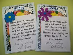 seed packets for baby shower favors - Google Search