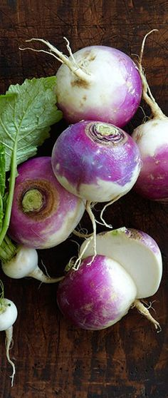 In Season - November. Turnips are good for roasting, purees and pickling on salads.