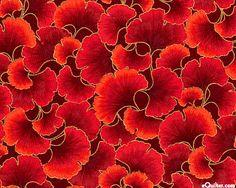 KBGIN3SC  KBGIN3SC: Ginkgo Tonals - Elegant Leaf Blend - Lacquer/Gold