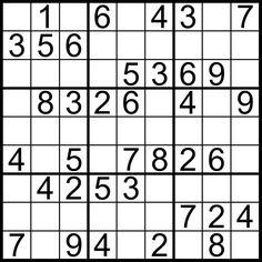 Sudoku łatwe Łamigłówki Sudoku