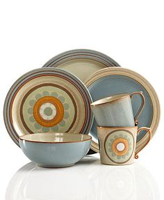 Denby Dinnerware, Heritage Collection - Casual Dinnerware - Dining & Entertaining - Macy's Bridal and Wedding Registry Fine China Patterns, Casual Dinnerware Sets, Denby Pottery, Christmas Dinnerware, Pretty Mugs, Boho Kitchen, Kitchen Design, Ceramic Birds, Tea Cup Saucer