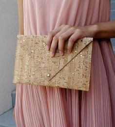 Cork & Leather Envelope Purse by Artisan-Collage on Scoutmob Shoppe