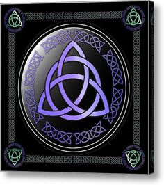 Triquetra Acrylic Print By Ireland Calling. More quality prints available at our Ireland Calling Store.