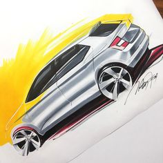 some car sketches on Behance