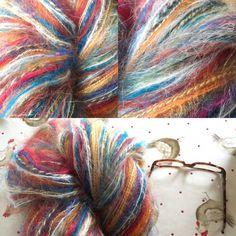 Multi Yarn Artyarn Wool Mohair Bulky Yarn by LittleLancashire