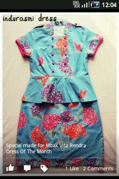 Batik dress Batik Kebaya, Batik Dress, Diy Dress, Dress Skirt, Maternity Fashion, Maternity Style, Simple Dresses, Summer Dresses, Pretty Outfits
