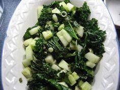 Warm Kale and Cucumber Salad by megabeth, via Flickr