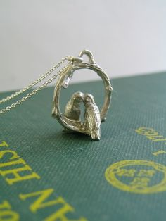 Love Birds Necklace in Sterling Silver