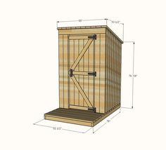 Ana White   Build a Outhouse Plan for Cabin   Free and Easy DIY Project and Furniture Plans