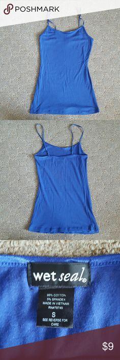 Wet Seal Cami No built in bra; outstanding condition; dark blue Wet Seal Tops Camisoles
