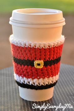 Santa Claus Inspired Coffee Cozy/Coffee Sleeve