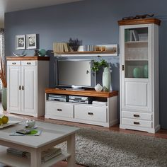 Wall unit Formentera I parts) – Solid pine, Maison Belfort Order now … - Home Decor Wall Repurposed Furniture, Pallet Furniture, Furniture Projects, Furniture Makeover, Country Furniture, My Living Room, Living Room Furniture, Comedor Shabby Chic, Muebles Living