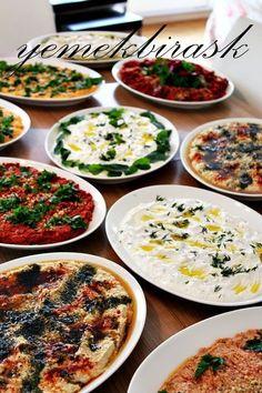 yemek bir aşk: meze meze meze a love of cooking: appetizer appetizer appetizer Pasta Recipes, Salad Recipes, Cooking Recipes, Healthy Recipes, Meze Recipes, Appetizer Salads, Appetizer Recipes, Turkish Recipes, Ethnic Recipes