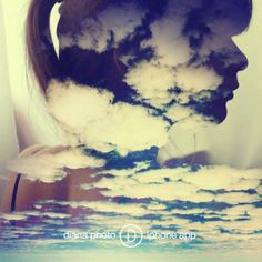 My head is in the clouds!  @TheDianasBlog #DianaPhotoApp #photoapp #Diana #photo #doubleexposure #inspiration #camera #blog #gallery #art