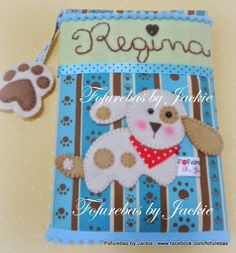 Fofurebas By Jackie: Caderno decorado- Cachorrinho da Re