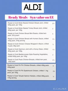Aldi Ready Meals on SW Extra Easy