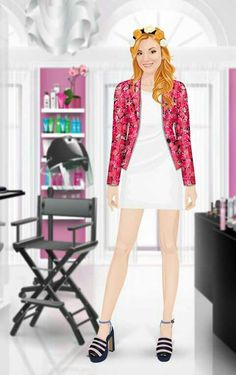 Want is more awesome than a flower blazer and a white dress