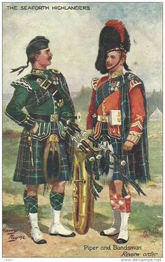 Seaforth Highlanders: A Piper and Bandsmen