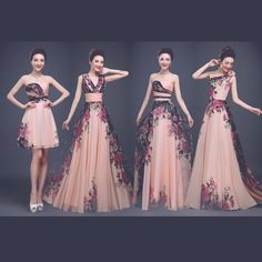 4 Designs Elegant Flower Pattern Floral Print Chiffon Evening Gown Dress Party Prom dresses Robe De Soiree Free Shipping-in Evening Dresses from Weddings & Events on Aliexpress.com | Alibaba Group